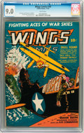 Golden Age (1938-1955):War, Wings Comics #39 (Fiction House, 1943) CGC VF/NM 9.0 Whitepages....
