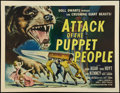 """Movie Posters:Science Fiction, Attack of the Puppet People (American International, 1958). Half Sheet (22"""" X 28""""). Science Fiction.. ..."""