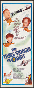 """Movie Posters:Comedy, The Three Stooges in Orbit (Columbia, 1962). Insert (14"""" X 36""""). Comedy.. ..."""