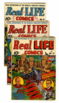 Golden Age (1938-1955):Non-Fiction, Real Life Comics #12, 21, and 47 Group (Nedor Publications,1943-49).... (Total: 3 Comic Books)