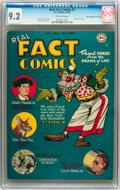 "Golden Age (1938-1955):Non-Fiction, Real Fact Comics #2 Davis Crippen (""D"" Copy) pedigree (DC, 1946)CGC NM- 9.2 Off-white pages...."