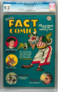 "Real Fact Comics #2 Davis Crippen (""D"" Copy) pedigree (DC, 1946) CGC NM- 9.2 Off-white pages"