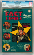Golden Age (1938-1955):Non-Fiction, Real Fact Comics #4 (DC, 1946) CGC VF+ 8.5 Off-white to whitepages....