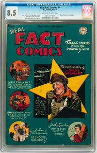 Real Fact Comics #4 (DC, 1946) CGC VF+ 8.5 Off-white to white pages