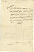 Autographs:Statesmen, Louis XIV of France, Document Signed ...
