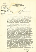 "Autographs:Celebrities, Typed Letter Signed by James Cagney. One page, 7.25"" x 10.5"", onhis Verney Farm letterhead, Stanfordville, New York, Se..."