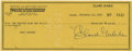 Autographs:Celebrities, Clark Gable Signed Check. ...