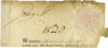 Autographs:Non-American, King George III Signature removed from a document....