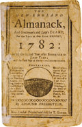 "Autographs:U.S. Presidents, [George Washington's Biography] The New-England Almanack1782, 24 pages, 4"" x 6.5"". ..."