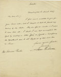 "Autographs:U.S. Presidents, James Buchanan Autograph Letter Signed as Secretary of State. Onepage, 8"" x 10"", Washington DC, March 6, 1849...."