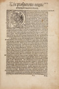 Books:World History, Edward Hall. The Prosperous Reigne of Kyng Edward theFourth. [London: Rychard Grafton, 1550].. The entirety of ch...