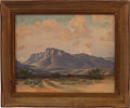 "Autographs:Artists, Louis Woods Teel. Untitled - Davis Mountains. Undated. Oilon canvas. 20"" x 16"". Signed in the lower left. Hands..."