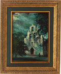 "Autographs:Artists, Frank C. Dill. Untitled - San Francisco de la EspadaMission. Oil on canvas. 12"" x 16"". Signed in the lower righ..."