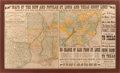 "Miscellaneous:Maps, Railroad Timetable Maps: ""Maps of the New and Popular St. Louisand Texas Short Line!"" [1878]. 32"" x 18.5"". Feat..."