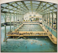 Decorative Prints, American:Prints, A FOUR-PANEL AMERICAN CHOMOLITHOGRAPH POSTER: THE SUTROBATHS . San Francisco, California, circa 1896. Unma...