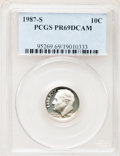 Proof Roosevelt Dimes: , 1987-S 10C PR69 Deep Cameo PCGS. PCGS Population (2653/108). NGCCensus: (350/101). Numismedia Wsl. Price for problem free...