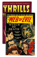 Golden Age (1938-1955):Horror, Web of Evil/Thrills of Tomorrow Group (Various, 1952-54)....(Total: 2 Comic Books)