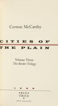 Books, Cormac McCarthy. Cities of the Plain. B. E. Trice: NewOrleans, 1998. Limited to 300 numbered copies (of which this ...