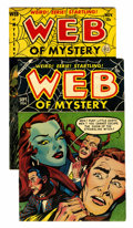 Golden Age (1938-1955):Horror, Web of Mystery #15 and 26 Group (Ace, 1953-54) Condition: AverageFN/VF.... (Total: 2 Comic Books)