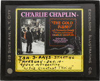 Charlie Chaplin Glass Slide Lot (Mutual, First National, United Artists; 1917, 1918, and 1925). Glass Slides (3) (3.25'...