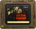 "Movie Posters:Crime, Little Caesar (Warner Brothers, 1931). Glass Slide (3.25"" X 4"")...."