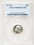Proof Roosevelt Dimes: , 1975-S 10C PR69 Deep Cameo PCGS. PCGS Population (3442/22). NGCCensus: (38/0). Numismedia Wsl. Price for problem free NGC...