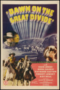 "Movie Posters:Western, Dawn on the Great Divide (Monogram, 1942). One Sheet (27"" X 41""). Western.. ..."