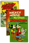 Golden Age (1938-1955):Miscellaneous, Four Color Mickey Mouse Group (Dell, 1947-52) Condition: Average GD.... (Total: 23 Comic Books)