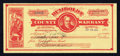 Obsoletes By State:Nevada, Winnemucca, NV- Humboldt County Warrant $25 Sep. 6, 1917. ...