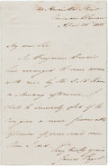 "Autographs:Inventors, James Paget Autograph Letter Signed. One page, 3.25"" x 5"", HamiltonStreet, April 26, 1850. Paget notifies a colleague that ..."