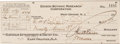 """Autographs:Inventors, Thomas Edison Check Signed. The check is 8.25"""" x 3.25""""(sight) andsigned boldly """"Thos. A. Edison."""" It is drawn on the Ed..."""