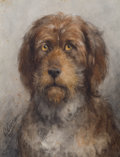 Fine Art - Painting, European:Antique  (Pre 1900), THE PROPERTY OF A GENTLEMAN. OTTO EERELMAN (Dutch, 1839-1926).Portrait of a Bouvier de Flandres Dog from the Le Fevre d...