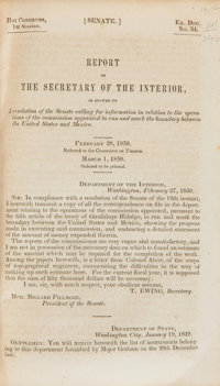 [United States Boundary With Mexico]. Report of the Secretary of the Interior, in Answer to A resolution of the