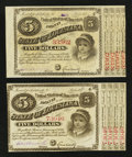 Obsoletes By State:Louisiana, Baton Rouge, LA- State of Louisiana $5 Two Examples . ... (Total: 2 notes)
