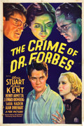 "Movie Posters:Crime, The Crime of Dr. Forbes (Fox, 1936). One Sheet (27"" X 41"").. ..."