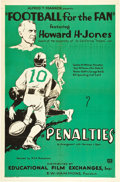 "Movie Posters:Sports, Football for the Fan (Educational Film Exchanges, 1932). One Sheet (27"" X 41"").. ..."