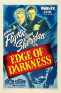 """Movie Posters:War, Edge of Darkness (Warner Brothers, 1943). One Sheet (27"""" X 41"""")....."""