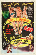 "Movie Posters:Drama, Mad Youth / Probation Combo (Willis Kent Productions, R-1940s). OneSheet (27"" X 41"").. ..."