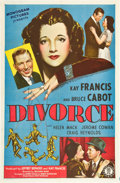 "Movie Posters:Drama, Divorce (Monogram, 1945). One Sheet (27"" X 41"").. ..."