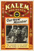 "Movie Posters:Drama, Our New Minister (Kalem, 1913). One Sheet (28 X 41"").. ..."