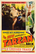 "Movie Posters:Serial, The New Adventures of Tarzan (Burroughs-Tarzan-Enterprise, 1935).One Sheet (27"" X 41""). Chapter 2--""Crossed Trails."". ..."