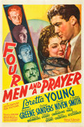 "Movie Posters:Adventure, Four Men and a Prayer (20th Century Fox, 1938). One Sheet (27"" X41""). Style A.. ..."
