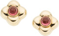Estate Jewelry:Earrings, Pink Tourmaline, Gold Earrings. ...