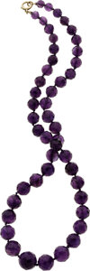 Estate Jewelry:Necklaces, Amethyst, Gold Necklace. ...