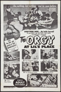 """Movie Posters:Sexploitation, Orgy at Lil's Place (William Mishkin Motion Pictures Inc., 1963).One Sheet (27"""" X 41""""). Sexploitation.. ..."""