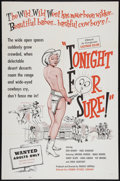 """Movie Posters:Sexploitation, Tonight for Sure (Premier Pictures, 1962). One Sheet (27"""" X 41"""").Sexploitation.. ..."""
