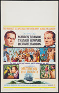 "Movie Posters:Adventure, Mutiny on the Bounty (MGM, 1962). Window Card (14"" X 22"").Adventure.. ..."