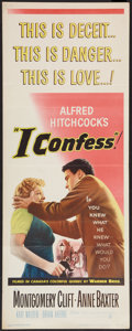 """Movie Posters:Hitchcock, I Confess (Warner Brothers, 1953). Insert (14"""" X 36""""). Hitchcock....."""