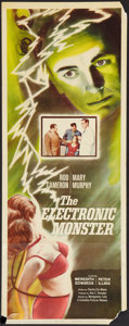"Movie Posters:Science Fiction, The Electronic Monster (Columbia, 1960). Insert (14"" X 36"").Science Fiction.. ..."