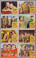 "Movie Posters:Adventure, Soldiers Three (MGM, 1951). Lobby Card Set of 8 (11"" X 14"").Adventure.. ... (Total: 8 Items)"